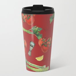 cocktail recipe pattern_ bloody mary Travel Mug