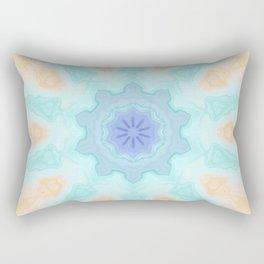 Crystallized Enlightenment Seascape Snowflake Kaleidoscope Digital Painting Rectangular Pillow