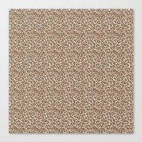 leopard Canvas Prints featuring Leopard by Zen and Chic