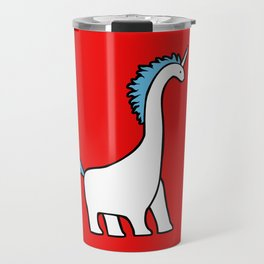 Cute Dinocorn (Unicorn Brachiosaurus) Travel Mug