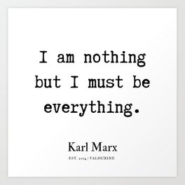 6   | Karl Marx Quotes | 190817 Art Print