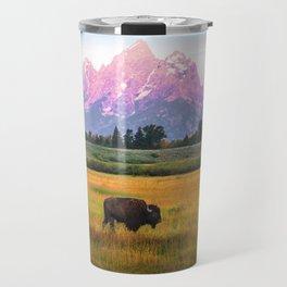 Grand Tetons Bison Travel Mug