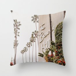 The Beverly Hills Hotel / Los Angeles, California Throw Pillow
