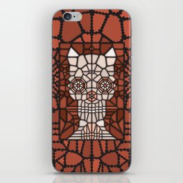 Demon skull voronoi iPhone Skin