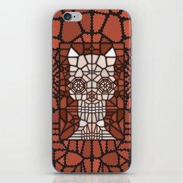 Demon skull voronoi iPhone Skin