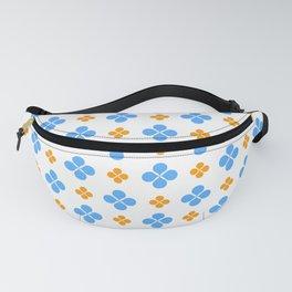 geometric flower 49 blue and orange Fanny Pack