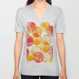 Saffron and Oranges Unisex V-Neck