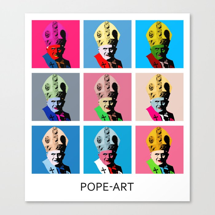 Pope art Canvas Print