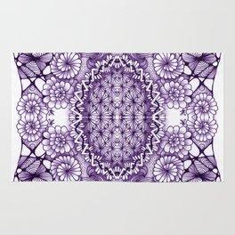 Grape Wash Zentangle Tile Doodle Design Rug