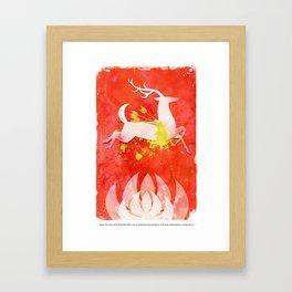 Huntsman's Stag Framed Art Print