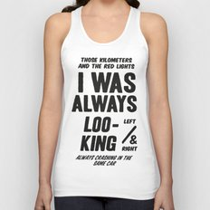 Bowie - Always Crashing in the Same Car Unisex Tank Top