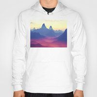 ashton irwin Hoodies featuring Mountains of Another World by Phil Perkins