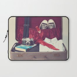 Vintage Journey Suitcase (His) (Retro and Vintage Still Life Photography) Laptop Sleeve