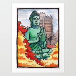 Japan : Toganji Temple Daibutsu Art Print