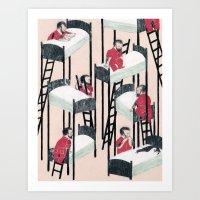 snow white Art Prints featuring Snow White by Nicolai Troshinsky