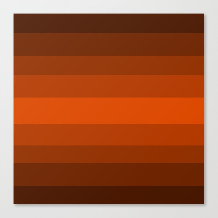 c593e75c4d3e Sienna Spiced Orange - Color Therapy Canvas Print by desertsart ...