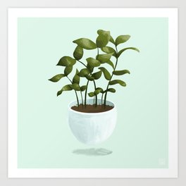 Floating Potted Plant Art Print
