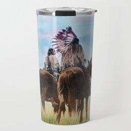 Cheyenne Warriors on the Great Plains - American Indians Travel Mug