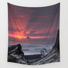 Rialto Beach Sunset Wall Tapestry