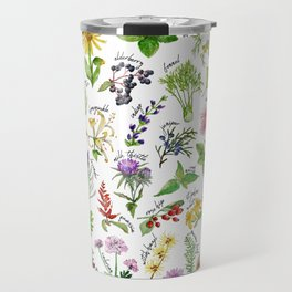 Plants & Herbs Alphabet Travel Mug