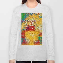 6759s-KMA The Woman in the Stained Glass Sensual Feminine Energy Emerging Long Sleeve T-shirt