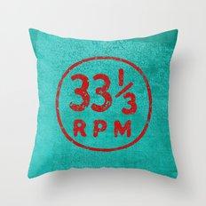 33 & a third RPM Circle Throw Pillow