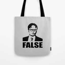 False funny saying Tote Bag