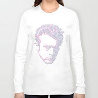 james franco Long Sleeve T-shirts featuring James by Viktor Hertz