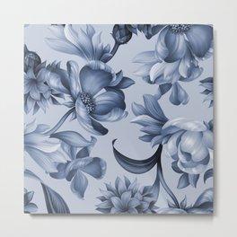 Steel blue gardens Metal Print