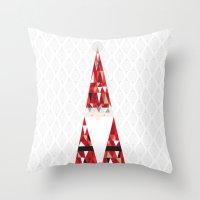 santa Throw Pillows featuring SANTA by Pardabon