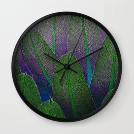 Lobelia leaves Wall Clock