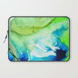 Blue And Green Abstract - Land And Sea - Sharon Cummings Laptop Sleeve