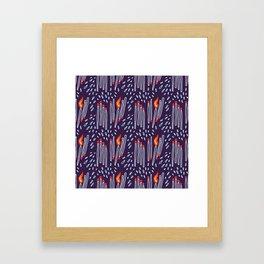 matches vs splashes Framed Art Print