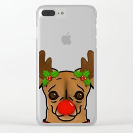 Santa's Little Weenie Deer Clear iPhone Case