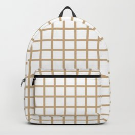 Grid (Tan & White Pattern) Backpack