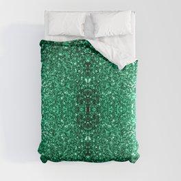 Beautiful Emerald Green glitter sparkles Duvet Cover