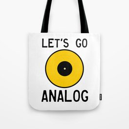 LET'S GO ANALOG - Vinyl Record Tote Bag