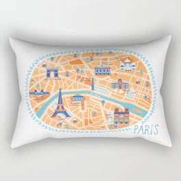 Paris Map Rectangular Pillow
