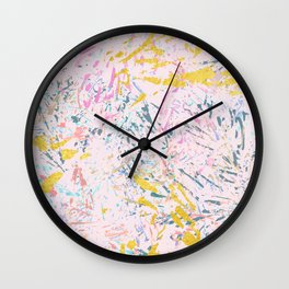 Pine Leaves - abstract pattern Wall Clock