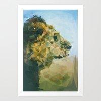 lion Art Prints featuring Lion by Esco