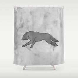 Wolf Banner Shower Curtain