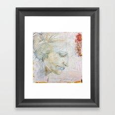 Silverpoint Portrait Framed Art Print