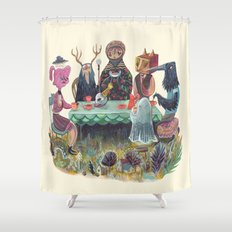 The Art of ruining conversation at dinner parties Shower Curtain