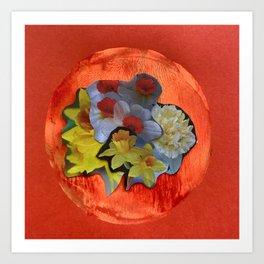 Garden Circle - Orange Art Print