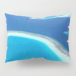 Blue Ocean White Sand Lagoons Maldives Island Paradise Pillow Sham