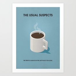 The Usual Suspects Minimalist Poster Art Print