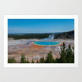Grand Prismatic Spring, Yellowstone Art Print
