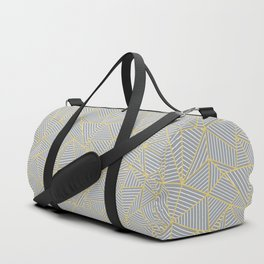 Ab Outline Gold and Grey Duffle Bag