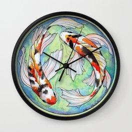 Koi Harmony Wall Clock