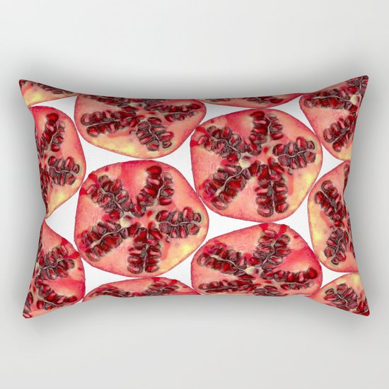 Pomegranate Pattern Rectangular Pillow